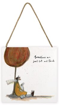 Sam Toft - Sometimes We Just Sit and Think Wooden Art