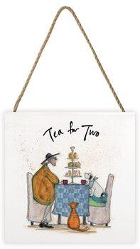 Sam Toft - Tea for Two Wooden Art