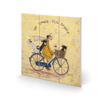 Sam Toft - The Doggie Taxi Service Wooden Art