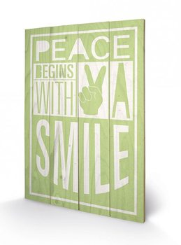 Sarah Winter - Peace Begins With A Smile Wooden Art