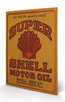 Shell - Adopt The Golden Standard, 1925 Wooden Art