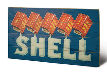 Shell - Five Cans 'Shell', 1920 Wooden Art