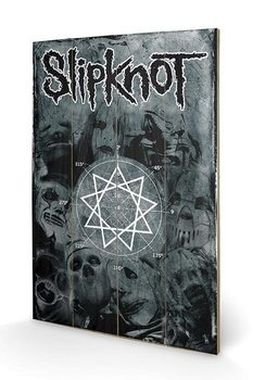 Slipknot - Pentagram Wooden Art