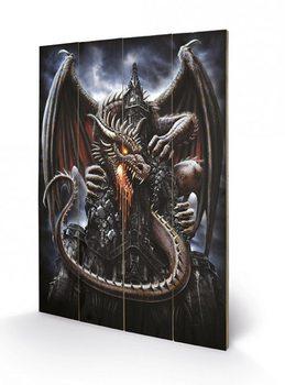 Spiral - Dragon Lava  Wooden Art