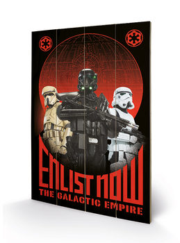 Star Wars Rogue One - Enlist Now Wooden Art