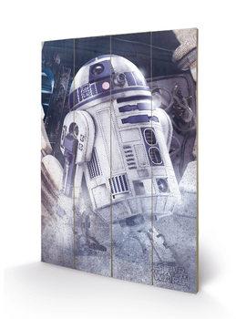 Star Wars The Last Jedi - R2-D2 Droid Wooden Art