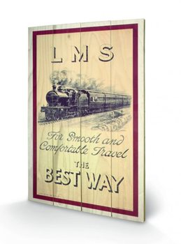 Tank Engine - LMS Wooden Art