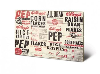VINTAGE KELLOGGS - box m. Wooden Art