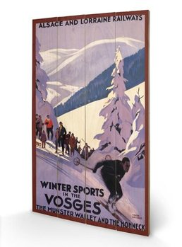 Winter Sports In The Vosges Wooden Art
