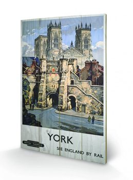 York - See Britain by Rail Wooden Art