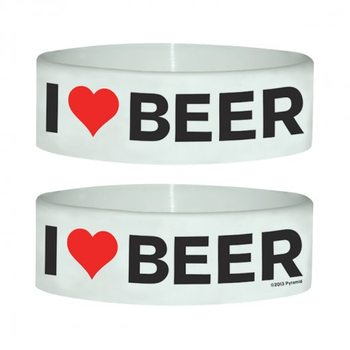 I LOVE BEER Wristband