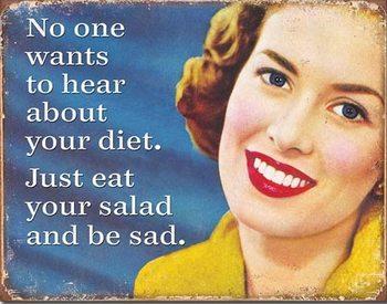 Your Diet Plaque métal décorée