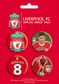 LIVERPOOL - gerrard Badge Pack