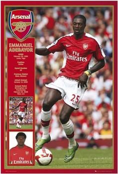 Arsenal - adebayor 08/09 Affiche