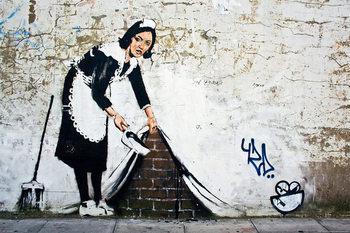 Banksy street art - maid Affiche