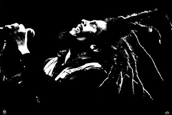 Bob Marley - black & white Affiche