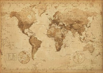 Carte du Monde Antique Affiche
