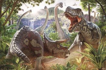 David Penfound - Dinosaur Battle  Affiche
