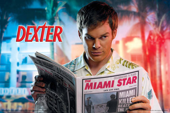DEXTER - everyone moves to miami Affiche