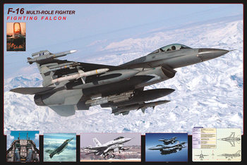 F16 Fighting falcon - airplane Affiche