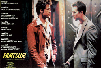 FIGHT CLUB - rules  Affiche