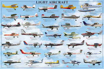 General aviation - light aircraft Affiche