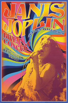 "Janis Joplin - ""Live In Concert"" Affiche"