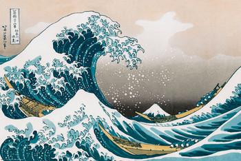 Katsushika HokusaiI- great wawe of kanagawa Affiche