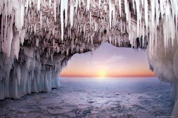 La grotte de glace - Horizon Affiche
