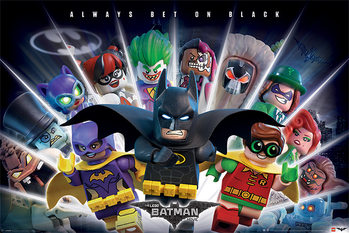 Lego Batman - Always Bet On Black Affiche