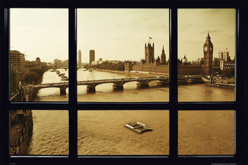 London - window Affiche