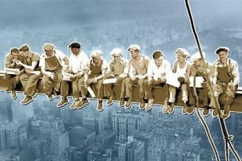 Men on girder - New York/pop Affiche