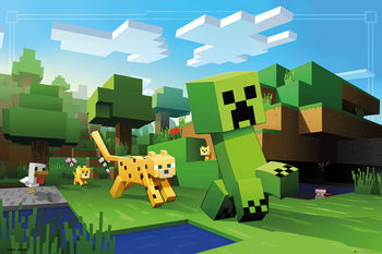Minecraft - Ocelot Chase Affiche