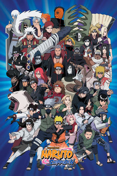 Naruto - Charasters Shippiden Affiche