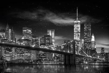 New York - Freedom Tower B&W Affiche