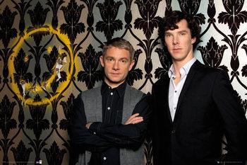 Sherlock - Smiley Affiche