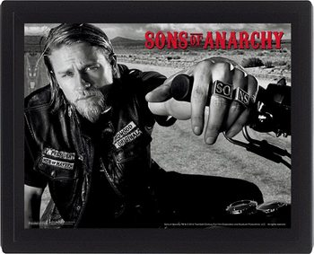 Sons of Anarchy - Jackson Poster en 3D encadré
