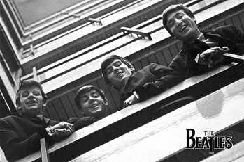 The Beatles - balcony Affiche
