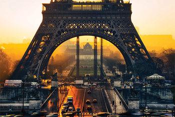 Tour Eiffel - Sunrise Affiche