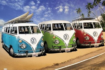 VW Volkswagen Californian - camper Affiche
