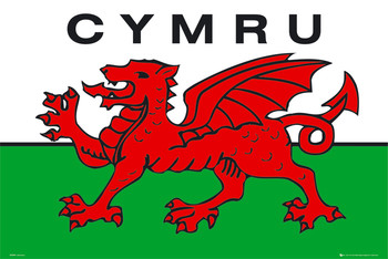 Wales - flag Affiche