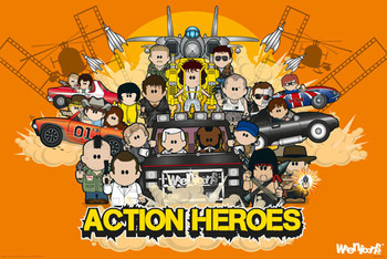 Weenicons - action heroes Affiche