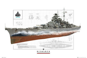 World Of Warships - Bismark Affiche