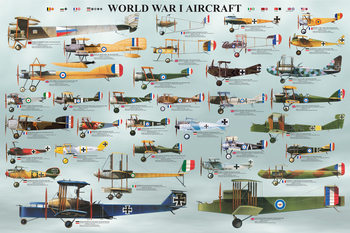 World war I - aircraft Affiche