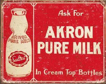 AKRON - Pure Milk Plaque métal décorée