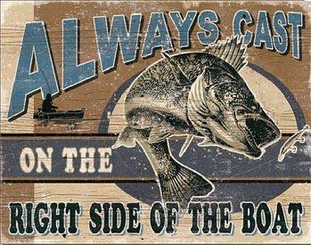 ALWAYS CAST - Walleye Plaque métal décorée