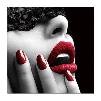 Arte moderna Glamour portrait - red lips