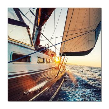 Arte moderna Sailing boat during sunset