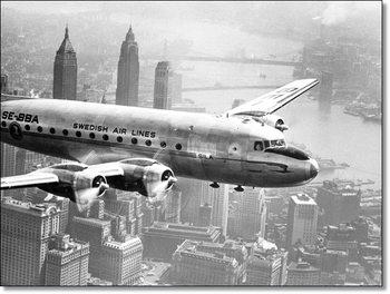 Impressão artística Aircraft flying over city 1946