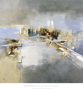 Impressão artística Brooklyn and Manhattan Bridges